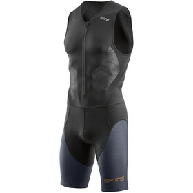 Skins DNAmic Triathlon Heren with Front Zip grijs/zwart